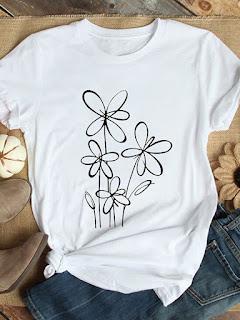 t shirt estampada feminina