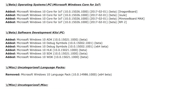 microsoft-internal-windows-10-builds