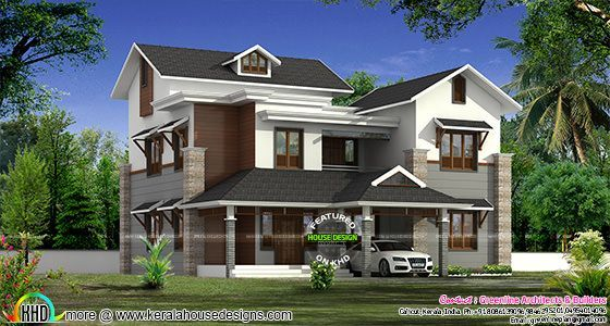 2838 sq-ft house in modern style