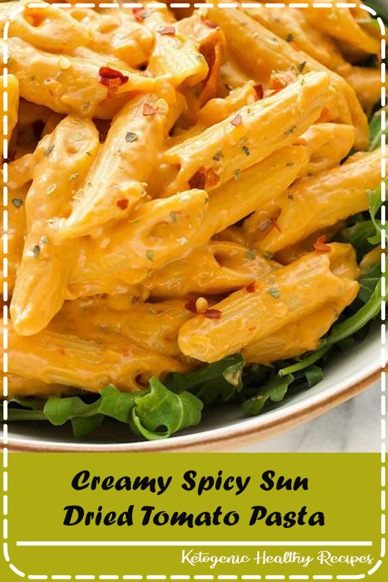A creamy spicy sun dried tomato sauce that's simple and quick to make. Uses simple ingredients which makes it perfect for a weeknight dinner. Vegan and gluten free when using your favourite gluten free pasta. #Chocolate #food #Dessert #Vegan #Healthy