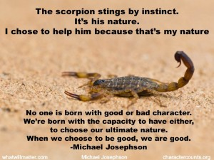 The Scorpion and Human Nature