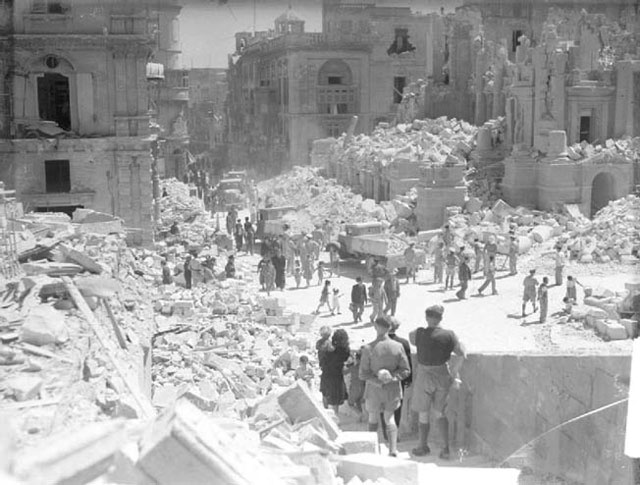 Bomb damage in Malta, 22 March 1942 worldwartwo.filminspector.com