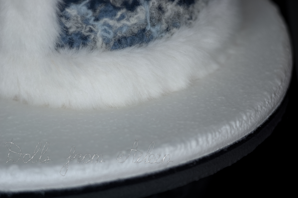 Realistic ice base for Father Frost art doll