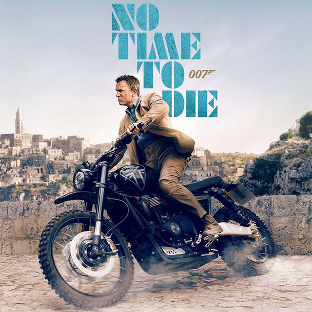 No Time to Die - Daniel Craig on a Triumph Scrambler