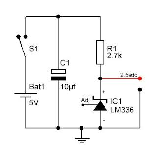 Voltaje de referencia casero hecho con el LM336.