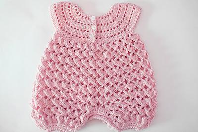 3 - Crochet IMAGEN Pelele rosa para todo el año. MAJOVEL CROCHET