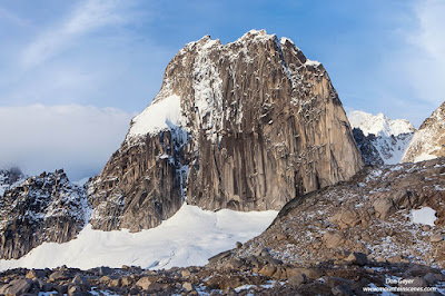 Snowpatch Spire in late fall, Bugaboo Provincial Park, Purcell Range, British Columbia, Canada.