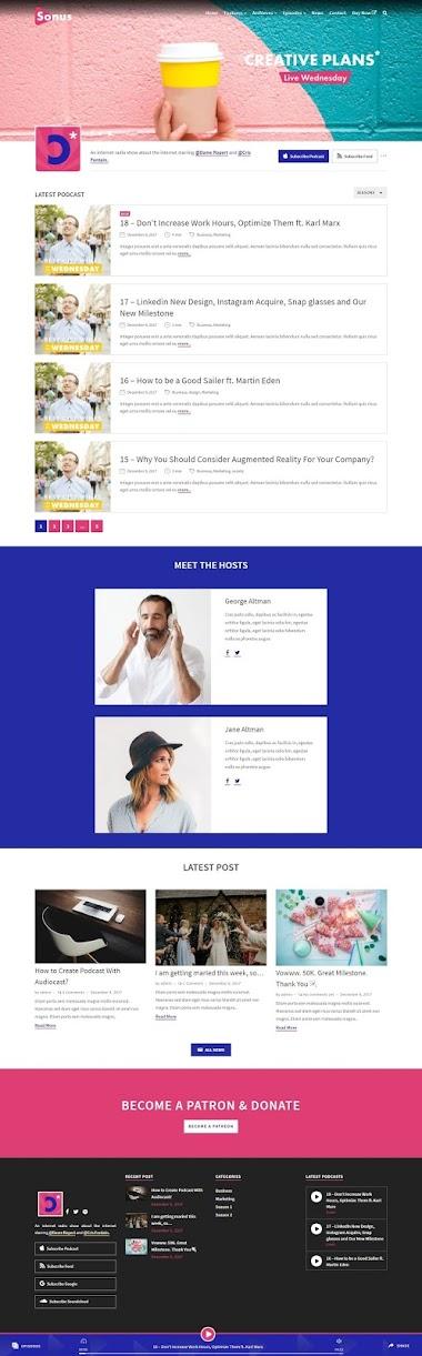 Podcast Wеbsite Design By AJ Agency