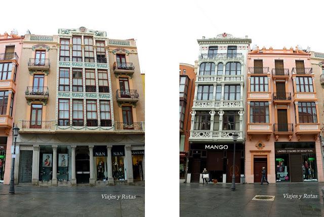 Edificios modernistas de la Plaza Sagasta de Zamora