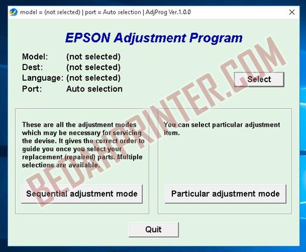 Cara Reset Epson L550 Terbaru