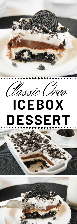 CLASSIC OREO ICEBOX DESSERT #desserts #cakes #oreo #icebox #brownies