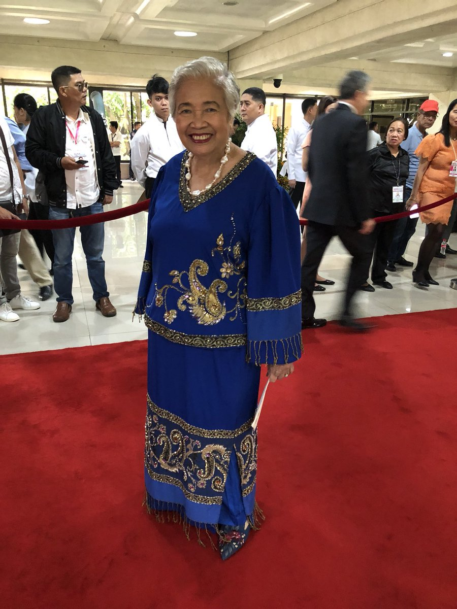 DepEd Sec. Leonor Briones attends SONA 2018