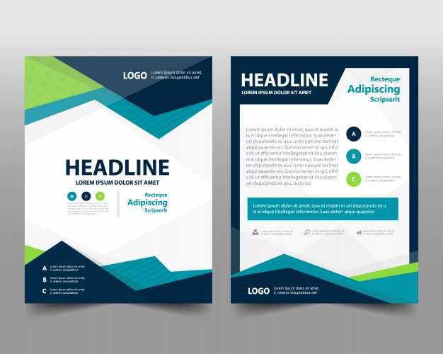 Business Brochure Template With Space For Text Free Vector Vectorkh