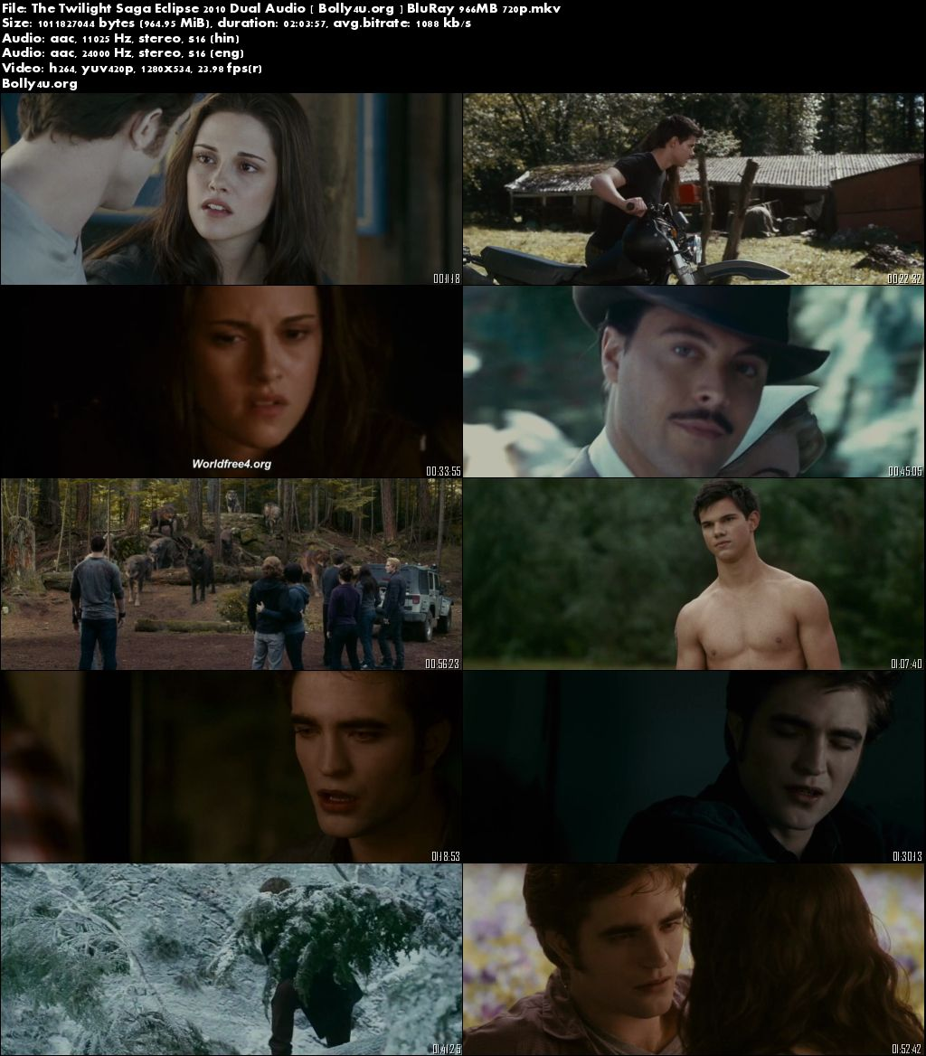The Twilight Saga Eclipse 2010 BluRay 950MB Hindi Dual Audio 720p Download