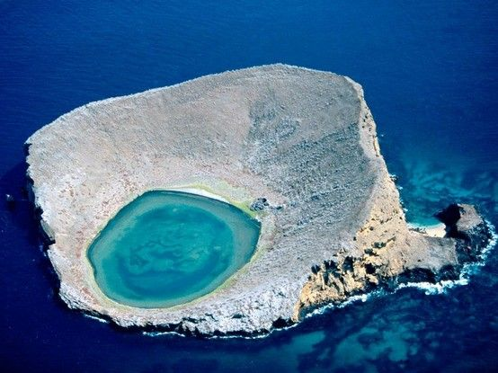 Blue Lagoon Galapagos Islands in Ecuador