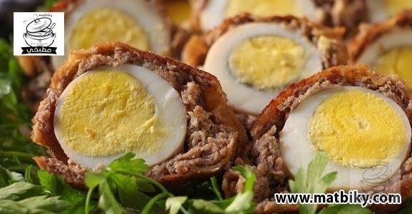 طريقة عمل البيض الاسكتلندي لأكلة مميزة ولذيذة | وصفة سهلة وسريعة لعمل البيض الاسكتلندي