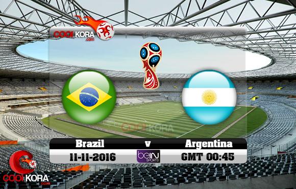 مشاهدة مباراة البرازيل والأرجنتين اليوم 10-11-2016 تصفيات كأس العالم