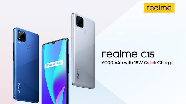 Realme C15 Meluncur di Indonesia 28 Juli 2020