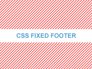 CSS fixed footer