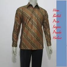 Baju Batik Kerja Pria Lengan Panjang Keren