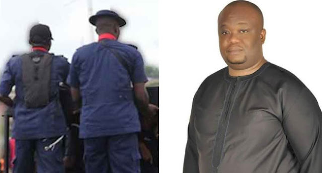 3 peoples standing, NSCDC Reacts To Killing Of Senatorial Candidate, Emenike Ndubuisi