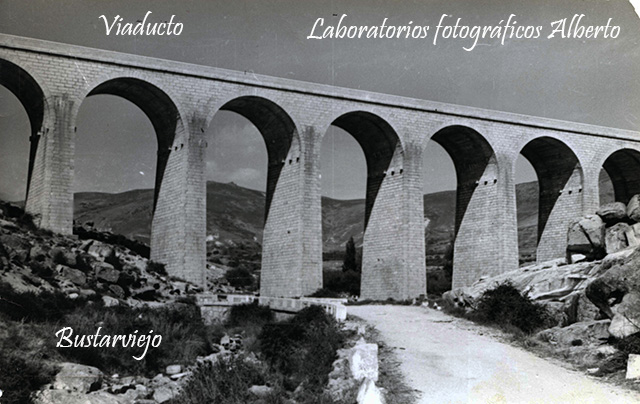 Viaducto de tren Madrid-Burgos en Bustarviejo
