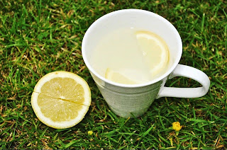 hot water and lemon