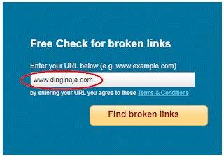 memperbaiki broken link blog