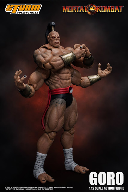 Goro 1/12 Scale Action Figure de Mortal Kombat - Storm Collectibles