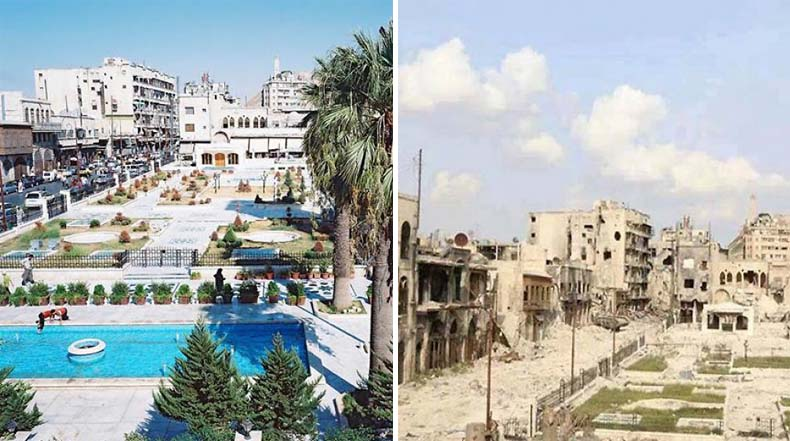 10 fotos de un antes y un después muestran cómo la guerra devastado a Siria