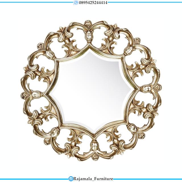 Cermin Hias Mewah Bundar Ukiran Jepara Luxury Classic Design RM-0398