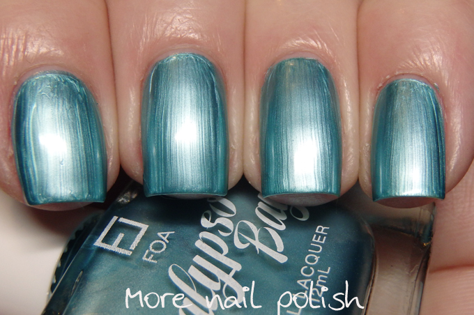 A Mermaids Tale Light Blue Metallic Frosty Chrome This Is Two Coats With No Top Coat