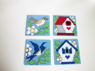 Birds & Birdhouse Beverage Coasters
