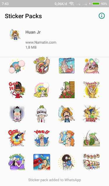 Download Stiker Pack Whatsapp One Piece