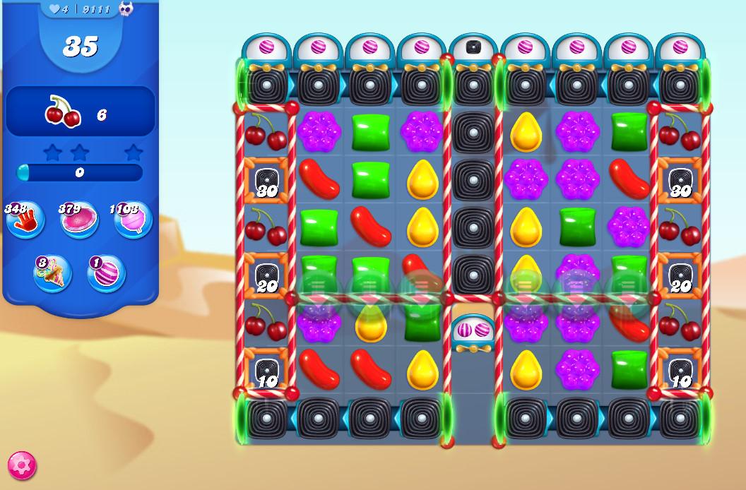 Candy Crush Saga level 9111