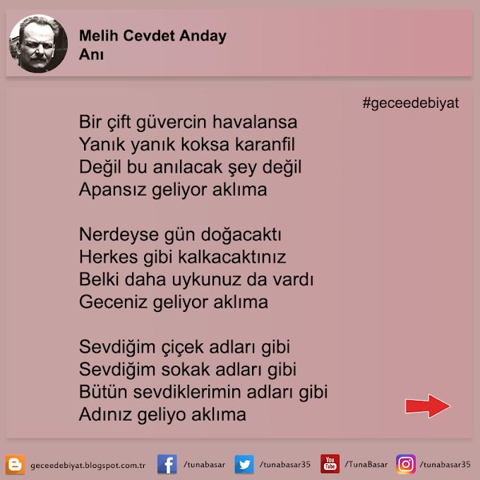 Anı - Melih Cevdet Anday