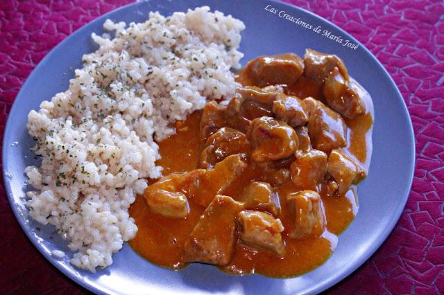 Arroz Semintegral Con Pavo Al Curry