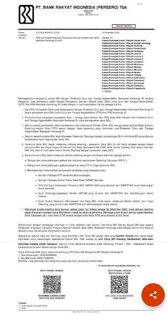Petunjuk Singkat Pelayanan Penyaluran BSU