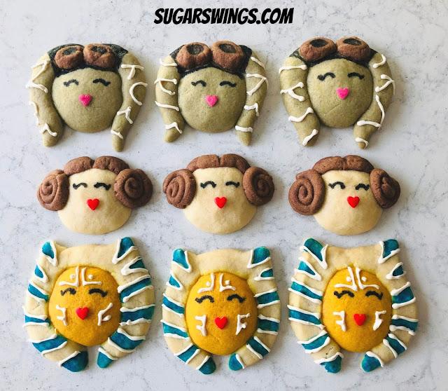 Ahsoka Tano cookies Princess Leia cookies Hera Syndulla cookies