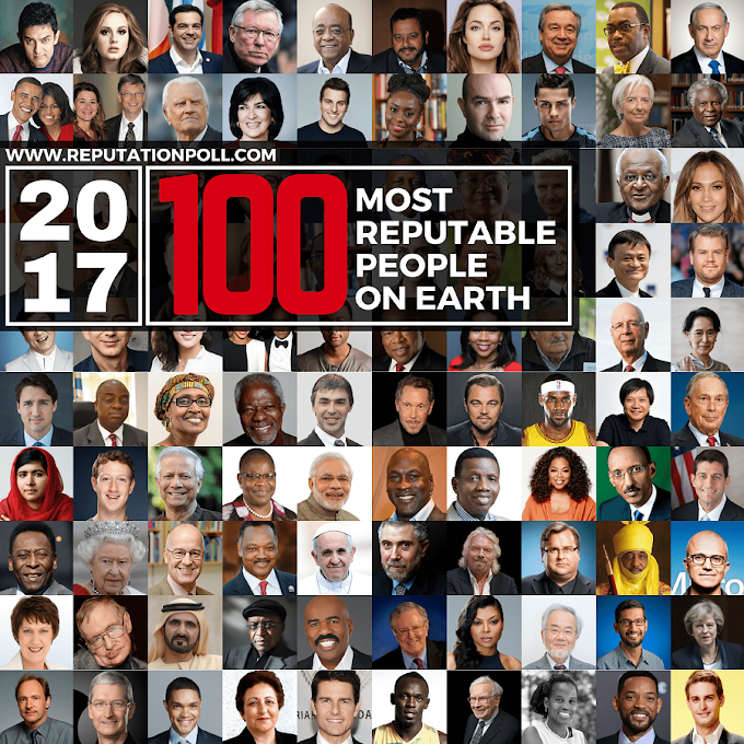 Angelina Jolie, Bishop Oyedepo, Bill Gates, Emir Sanusi, Announced among 2017 Most Reputable People on Earth