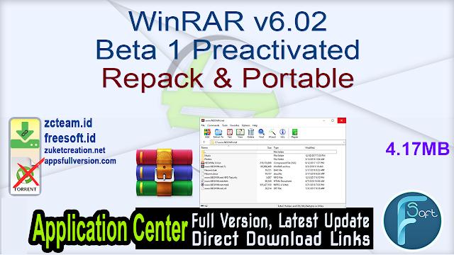 WinRAR v6.02 Beta 1 Preactivated Repack & Portable