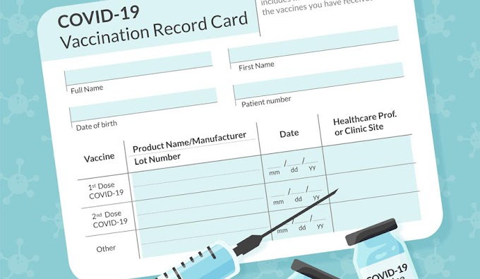 Do not laminate your vaccination card. Here's why