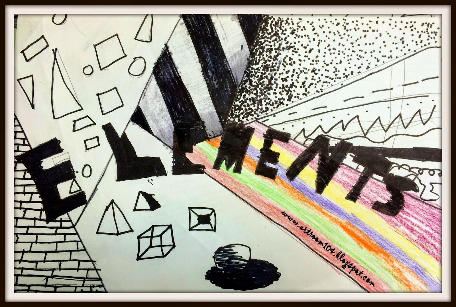 Art Room 104 Art 7 Elements Of Art Project