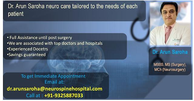 Dr Arun saroha best craniotomy surgeon in india , best neuro surgeon