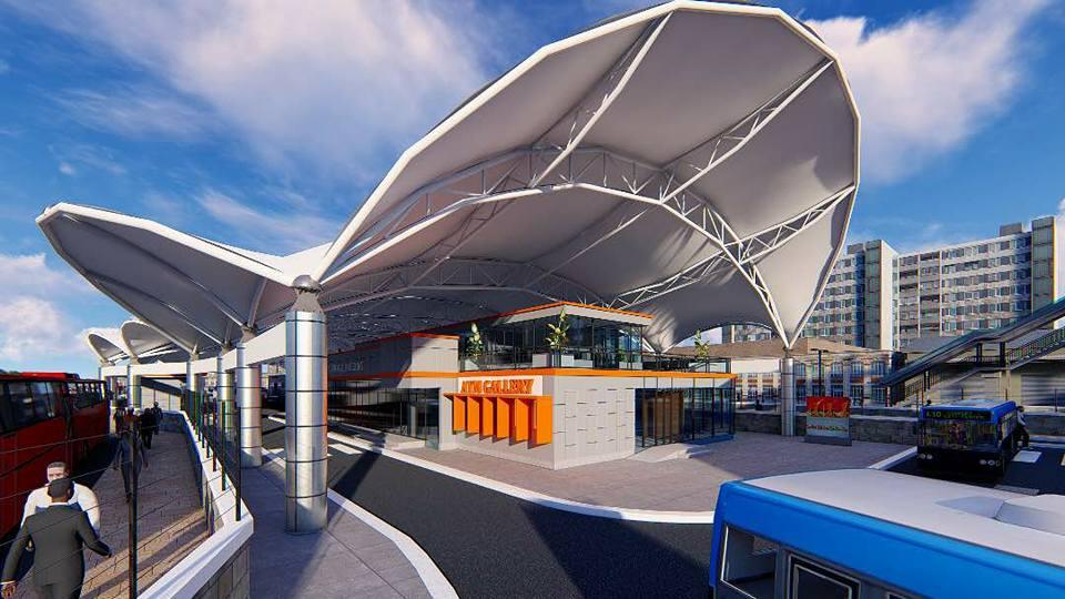 Prototype and Live Pictures of Yaba BRT Terminus