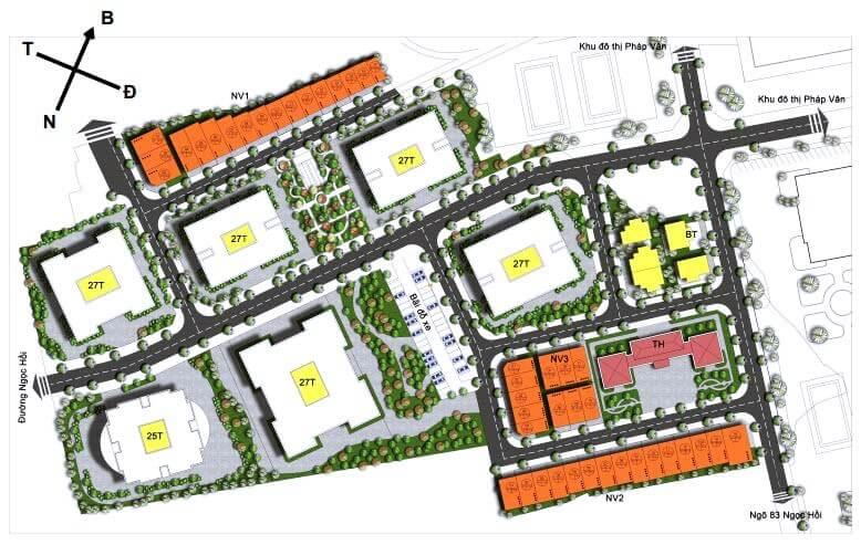 Quy hoạch khu đô thị Rose Town Ngọc Hồi