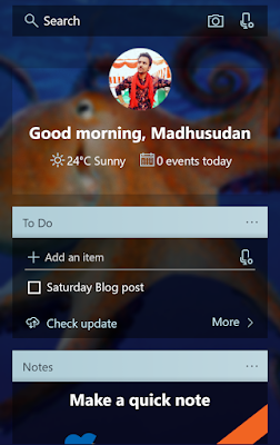 the feed in Microsoft Launcher which enhances productivity