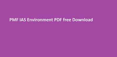PMF IAS Environment PDF free Download