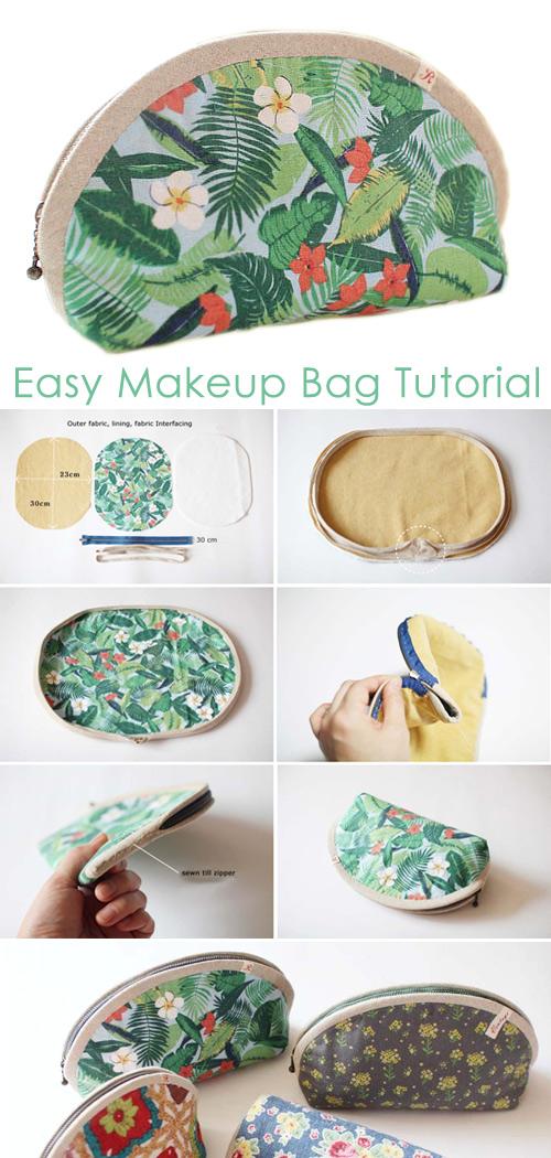 Small Makeup Bag DIY