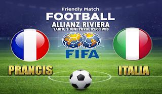 Prediksi Prancis vs Italia 2 Juni 2018